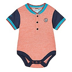 Baker by Ted Baker - Baby boys' orange fine striped body suit