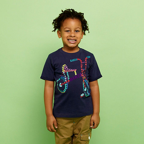 Baker by Ted Baker - Boy+s navy bicycle print t-shirt