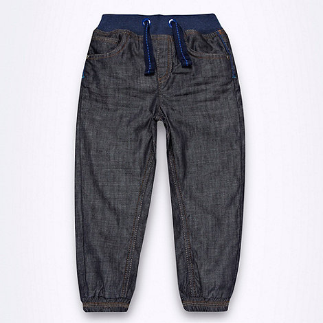 Baker by Ted Baker - Boys+ dark blue ribbed waisted cuffed jeans