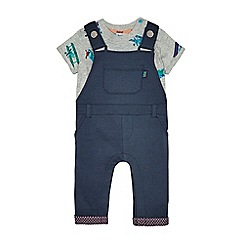 Baker by Ted Baker - Baby boys' navy top and dungarees set