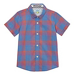 Baker by Ted Baker - Baby boys' blue checked print shirt
