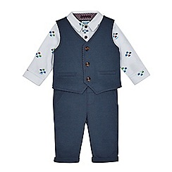 Baker by Ted Baker - Baby boys' navy car print three piece set