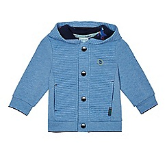 Baker by Ted Baker - Baby boys' blue ribbed hooded jacket