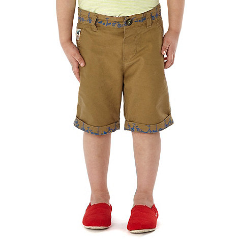 Baker by Ted Baker - Boy+s natural bike trim shorts