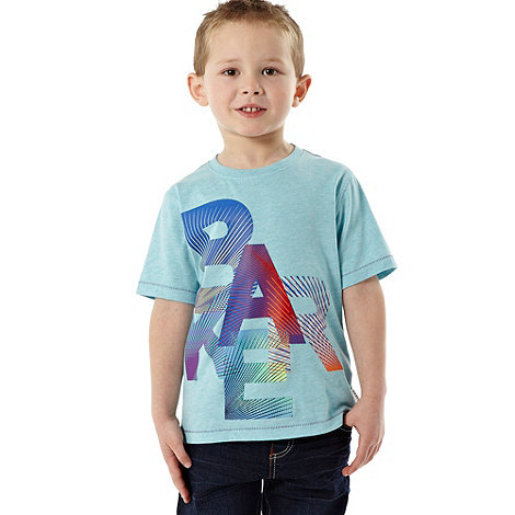 Baker by Ted Baker - Boy+s blue striped logo t-shirt
