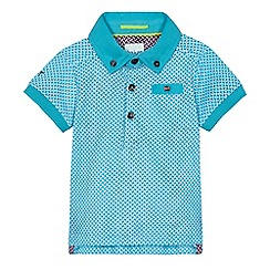 Baker by Ted Baker - Baby boys' blue geo print polo shirt