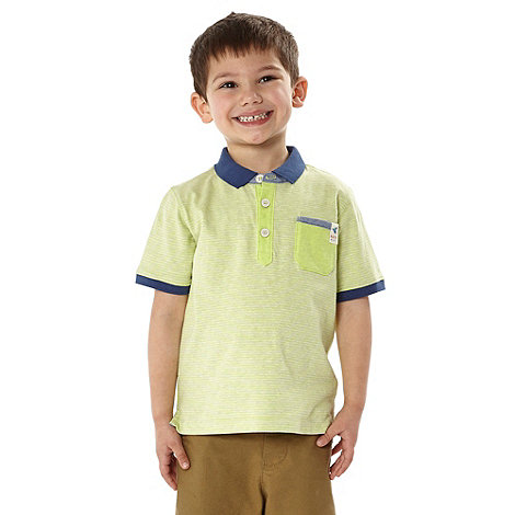 Baker by Ted Baker - Boy+s lime striped polo shirt