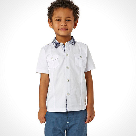 Baker by Ted Baker - Boy+s white jersey shirt