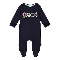 Baker by Ted Baker - Baby boys' navy logo sleepsuit