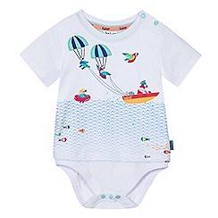Baker by Ted Baker - Baby boys' white parrot print bodysuit
