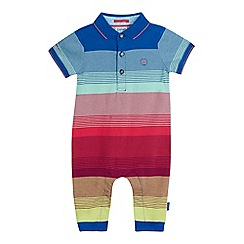Baker by Ted Baker - Baby boys' multi-coloured striped romper suit
