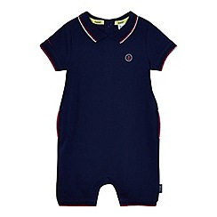 Baker by Ted Baker - Baby boys' navy tipped romper suit
