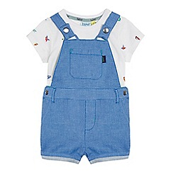 Baker by Ted Baker - Baby boys' blue printed tee and dungarees set
