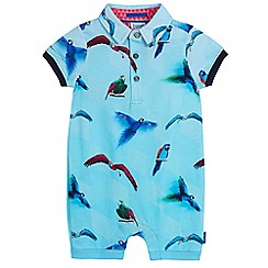 Baker by Ted Baker - Baby boys' blue parrot print romper suit
