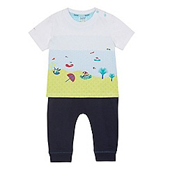 Baker by Ted Baker - Baby boys' navy parrot print top and bottoms set