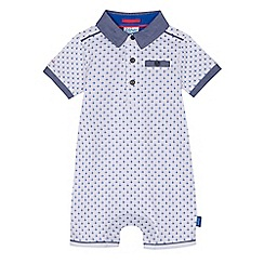 Baker by Ted Baker - Baby boys' white geometric print romper suit