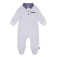 Baker by Ted Baker - Baby boys' white geometric print sleepsuit
