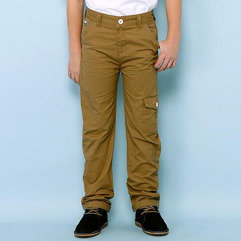 Baker by Ted Baker - Boy+s brown slim cargo trousers