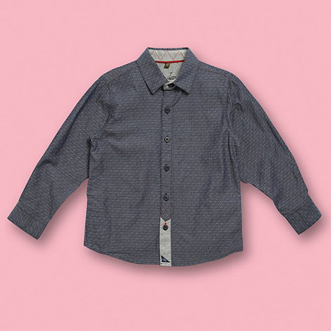 Baker by Ted Baker - Boy+s blue textured denim shirt