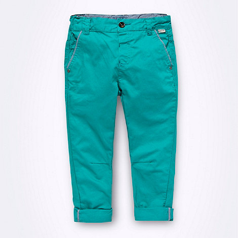 Baker by Ted Baker - Boy's green chino trousers