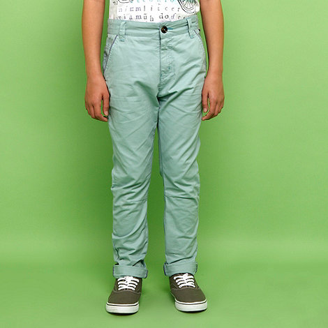 Baker by Ted Baker - Boy+s aqua chino trousers