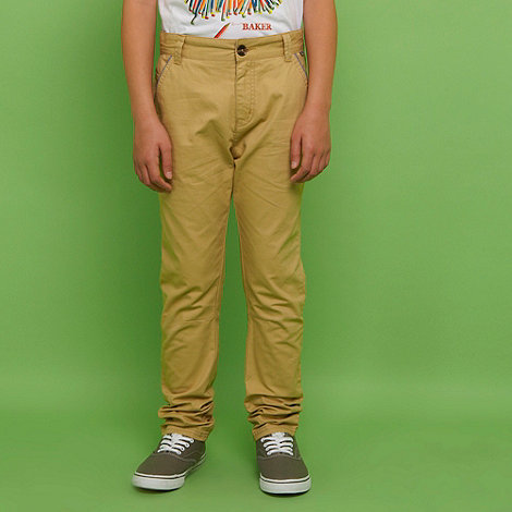 Baker by Ted Baker - Boy+s mustard chino trousers