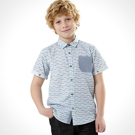 Baker by Ted Baker - Boy+s white short sleeved bicycle shirt
