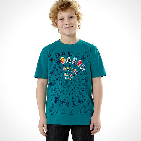 Baker by Ted Baker - Boy+s green reverse print t-shirt