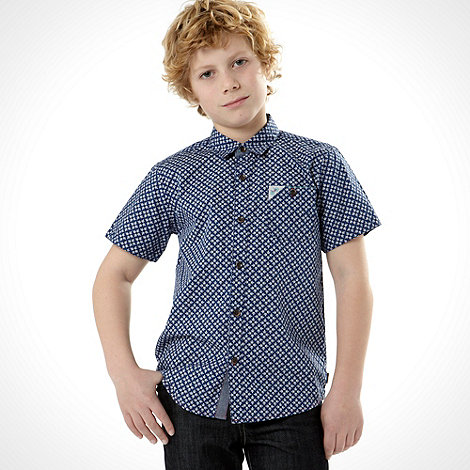 Baker by Ted Baker - Boy+s blue geo print shirt