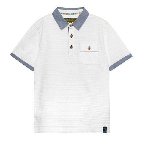 Baker by Ted Baker - Boy's white textured polo top