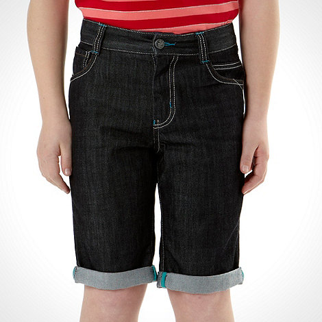 Baker by Ted Baker - Boy+s blue smart denim shorts