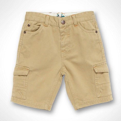 Baker by Ted Baker - Boys+ beige twill shorts
