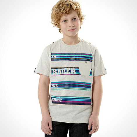 Baker by Ted Baker - Boy+s cream +In Baker We Trust+ t-shirt