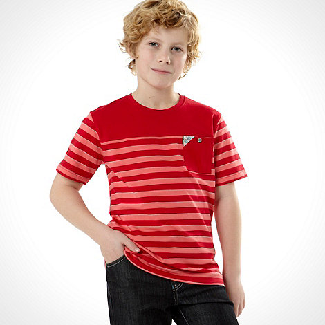 Baker by Ted Baker - Boy+s red bold striped t-shirt