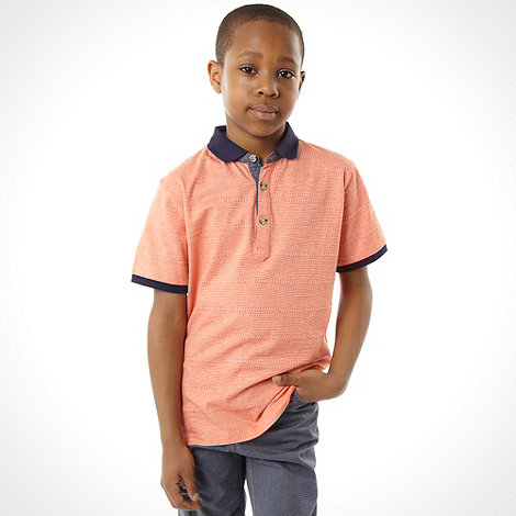 Baker by Ted Baker - Boy+s orange textured polo shirt