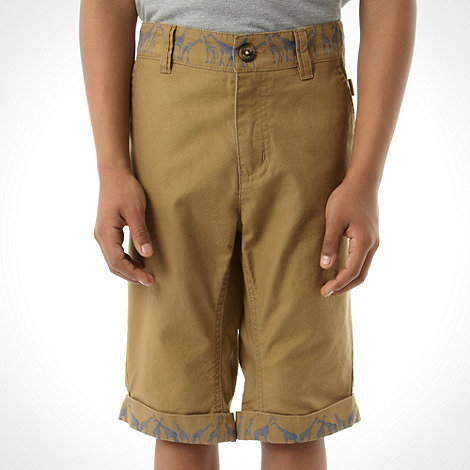 Baker by Ted Baker - Boy+s natural giraffe trim shorts