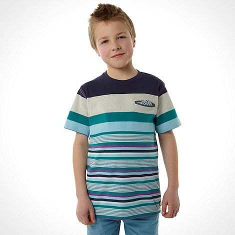 Baker by Ted Baker - Boy+s stripe crew neck polo shirt