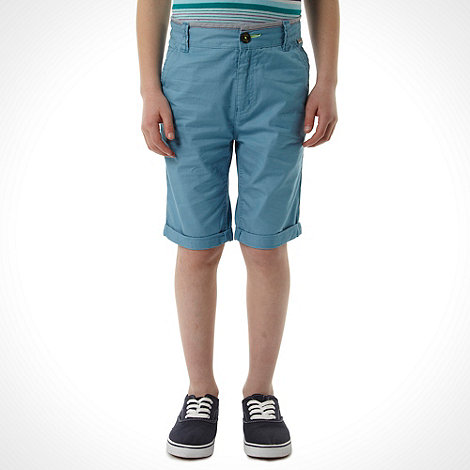 Baker by Ted Baker - Boy+s blue chino shorts