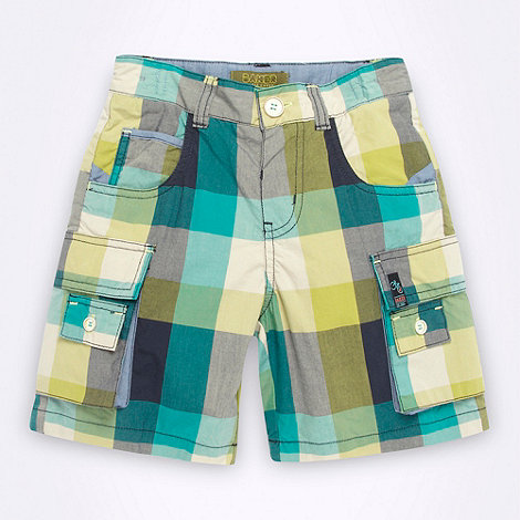 Baker by Ted Baker - Boy+s green checked shorts
