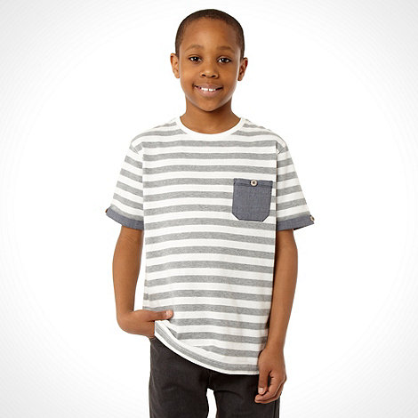 Baker by Ted Baker - Boy+s grey striped t-shirt
