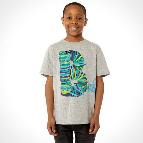 Baker by Ted Baker - Boy+s grey ribbon logo t-shirt