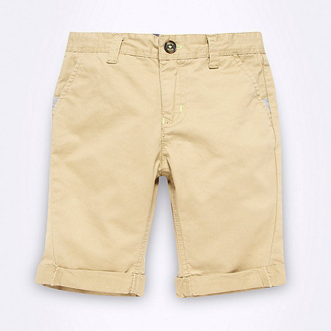 Baker by Ted Baker - Boy+s natural chino shorts