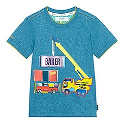 Baker by Ted Baker - Boys' light blue truck applique top