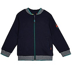 Baker by Ted Baker - Boys' navy reversible train print bomber jacket