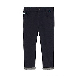Baker by Ted Baker - Boys' navy herringbone trousers