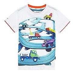 Baker by Ted Baker - Boys' multi-coloured truck scene print t-shirt