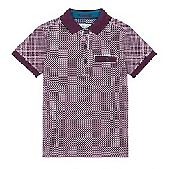 Baker by Ted Baker - Boys' purple geometric print polo shirt