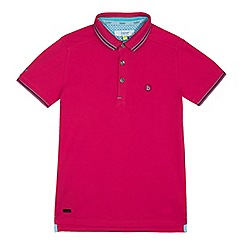Baker by Ted Baker - Boys' dark pink polo shirt