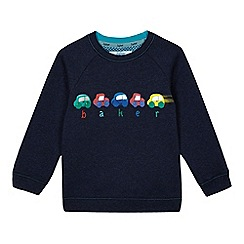 Baker by Ted Baker - Boys' navy car print jumper