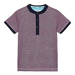 Baker by Ted Baker - Boys' purple geometric print grandad top